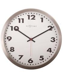 Designové nástěnné hodiny 2521 Nextime Arabic white 34cm