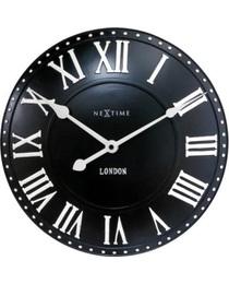 Designové nástěnné hodiny 3083zw Nextime v aglickém retro stylu 35cm