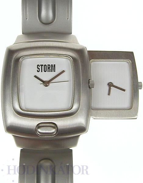 121aa686a5d Pánské hodinky STORM - DUONETIC v bílé barvě ciferníku